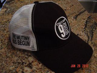 CRUZAN RUM BASEBALL HAT CAP EMBROIDERED LOGO BLACK WHITE CAPS HATS