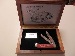 Dale Earnhardt Sr CASE COLLECTOR KNIFE NASCAR 1992 RARE 1991 CUP