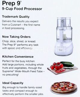 New Cuisinart Premier Series 9 Cup Food Processor Stainless Steel