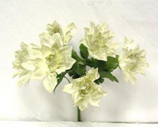 Dahlia Flowers Sage Green Silk Flower Bush Wedding Bridal Bouquet