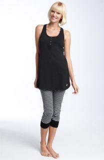 Juicy Couture Racerback Tunic & Stripe Crop Leggings