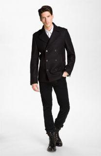 Zadig & Voltaire Peacoat, Shawl Collar Sweater, Dress Shirt & Slim Corduroy Pants