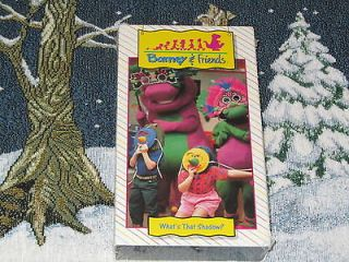 BRAND NEW SEALED BARNEY & FRIENDS TIME LIFE WHATS THAT SHADOW VHS