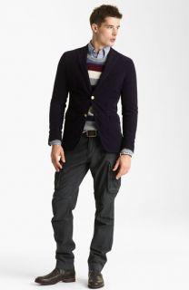 Gant by Michael Bastian Corduroy Blazer, Stripe Sweater, Gingham Sport Shirt & Slim Fit Cargo Pants