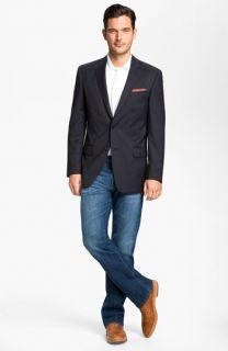John Varvatos Star USA Wool Jacket, BOSS Black Polo & AG Jeans Straight Leg Jeans