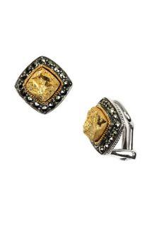 Judith Jack Semiprecious Stone Small Clip Earrings