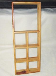 Wood Shadow Trinket Box Cube Wall Mount Display Shelf 24 x 9