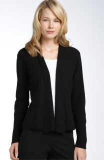 Eileen Fisher Wool Crepe Cardigan with Pin (Plus)