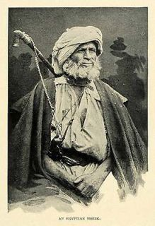 1901 Print Egyptian Skeik Elder Honorific Leader Governor Hakim