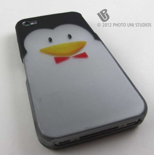 PENGUIN FACE HARD SHELL CASE COVER APPLE IPHONE 4 4s PHONE ACCESSORY