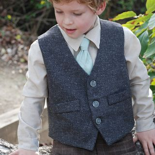 Couture Boys 18M Grey Special Occasion Dapper Dan Vest Top