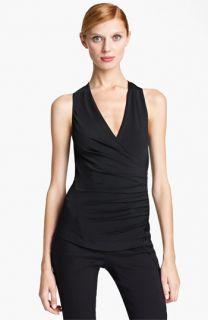 Donna Karan Collection Side Drape Jersey Top