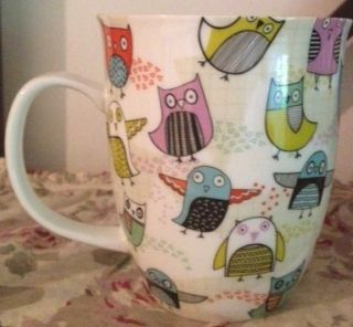 Ceramic Owl Mug Coffee Tea Cup White Multi Colored Creative Tops Ltd