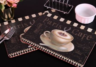 Paris Cafe Traditional Placemats Table Mats by Creative Tops