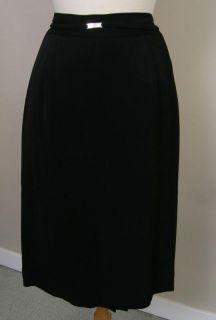 Dana Buchman Jacket Skirt Outfit Black Size 8 Perfect
