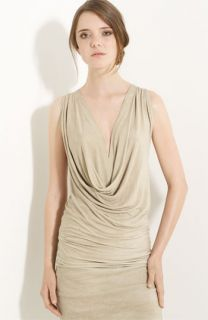 Donna Karan Collection Weathered Jersey Draped Top