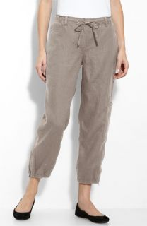 Eileen Fisher Organic Linen Cargo Pants (Plus)