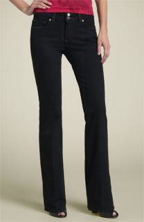 Paige Denim Hidden Hills Bootcut Stretch Jeans (Black Overdye)