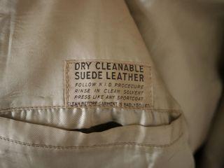 Vintage 1970s Cresco Geunine Soft Suede Brown Blazer Sport Coat Mens