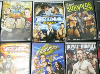 Lot WWE DVD Royal Rumble Wrestle Mania XXVI Summer 2010 2011
