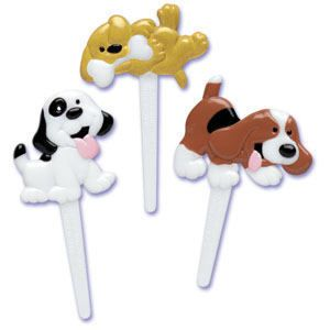 12 Puppy Dog Cupcake Picks Cake Toppers Favors Animal