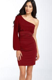 Maggy London One Shoulder Matte Jersey Dress