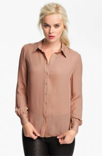 Haute Hippie Draped Open Back Shirt