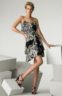 Blumarine Animal Print Stretch Jersey Dress