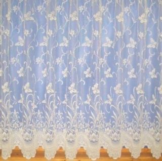 Butterfly Design Lace Net Curtain 3906 All Sizes