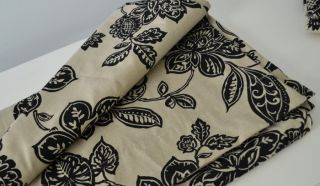 Home Farrah Floral 54 x 84 L Curtain Panels Drapery Black Tan