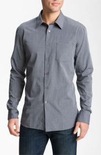 John Varvatos Star USA Grey Stripe Woven Sport Shirt