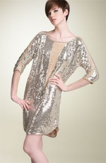 Haute Hippie Illusion Fringe Sequined Dress