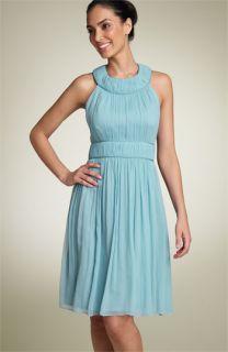 Maggy London Sleeveless Silk Chiffon Dress