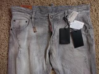 Gray Distressed Jeans Size 48 32 New D2 Denim S74LA0359 Dean