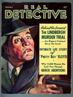 Real Detective 1935 Jan Pulp True Crime Pretty Boy Floyds Life Story