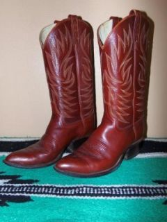 Dan Post Vintage Tall Leather Western Cowboy Boots Men's Size 8 5 D