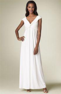 Calvin Klein Twist Front Jersey Knit Gown