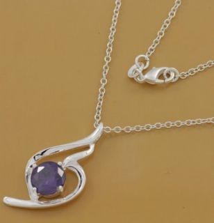 CA099 Jewelry Silver Crystal New Necklaces Pendants