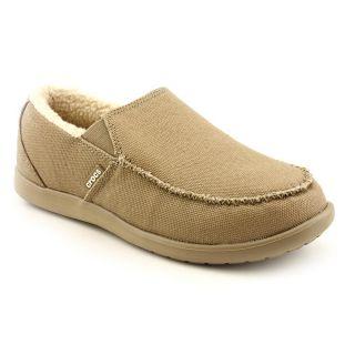 Crocs Santa Cruz Lounger Mens Size 13 Brown Textile Loafers Shoes