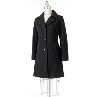 Black NWT Croft Barrow Boucle Soft Wool Walker Coat Longer Lenght