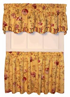 Country Cottage Floral Curtains Tier Valance or Swags Coventry Green