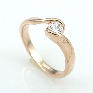 18K Gold Plated Crystal Cute Ring  92271