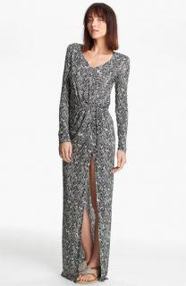 Thakoon Carbon Copy Basket Weave Print Maxi Dress