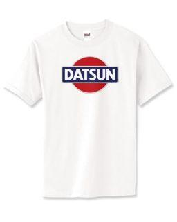 Datsun Mens White T Shirt Retro New 240Z 280z New