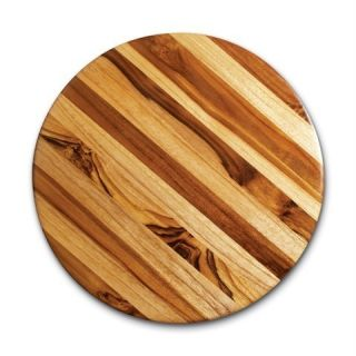 Proteak 12 inch Round End Grain Teak Wood Cutting Board