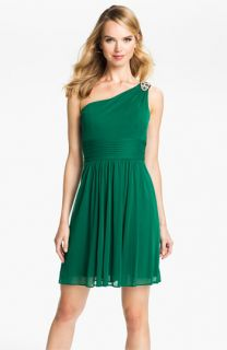 Hailey by Adrianna Papell One Shoulder Mesh Dress