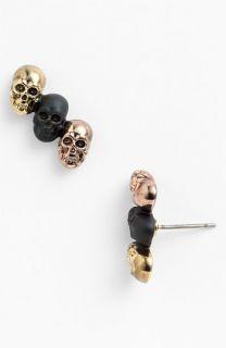 House of Harlow 1960 Triple Skull Stud Earrings