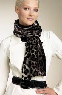 Leopard Print Velvet Scarf
