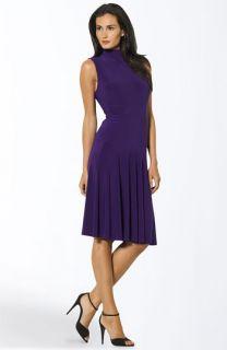Lauren by Ralph Lauren Sleeveless Mock Neck Dress