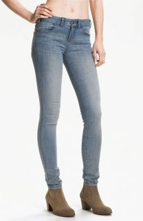 Free People Stretch Denim Skinny Jeans (Sky Wash)